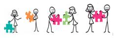 frise puzzle coopération